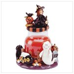 34582 WITCH TOPPED CANDLE JAR