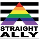 Gay Pride Straight Ally Sticker