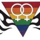 Gay Pride Women's Yang Rainbow Tribal Sticker