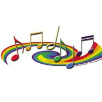 Gay Pride Music Notes Bumper Sticker