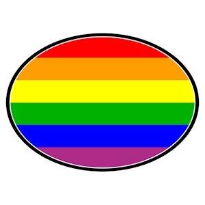 Gay Pride Rainbow Flag Auto Magnet