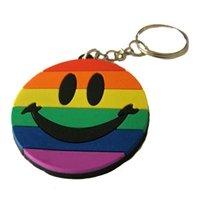 Gay Pride Rainbow Smile Key Chain