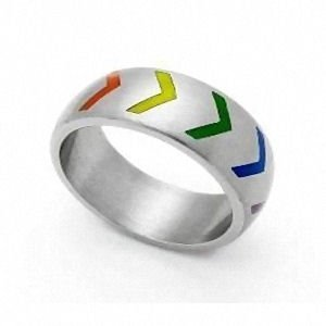 Gay Pride Victory Ring Size 8