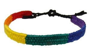 Gay Pride Friendship Bracelet Rainbow Thin