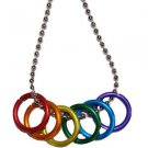 Silver Chain Gay Pride Freedom Ring Necklace