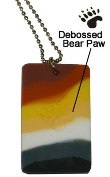 Bear Pride ID Tag / Ball Chain Necklace