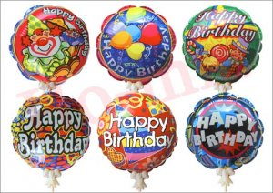 lot of 32 Birthday auto inflatable balloons