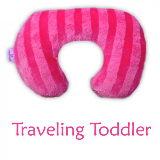 Traveling Toddler - Hot Pink - Minky Soft Luxury Travel Neck Wrap Pillow