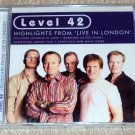 Level 42 - Highlights From Live In London CD NEW SEALED