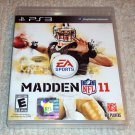 NFL Madden 11 (Sony PlayStation 3, 2010) NEW SEALED PS3