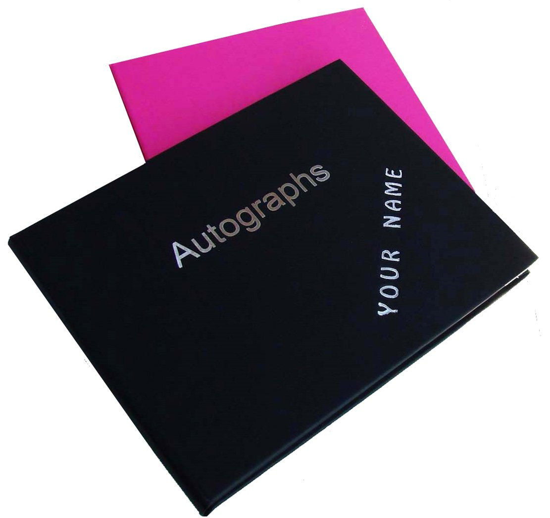 AUTOGRAPH BOOK personalised with any name you would like