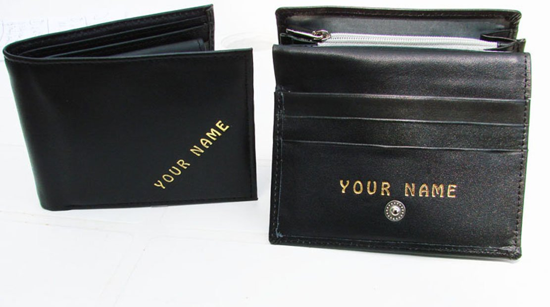 HIS N HERS wallet and purse PERSONALISED WITH ANY NAME YOU WANT