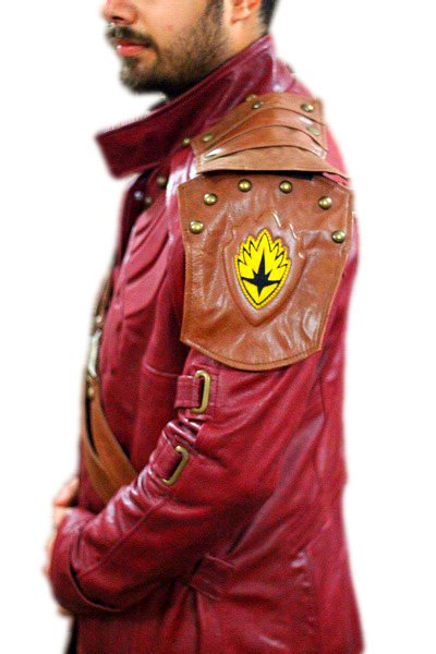 Guardian of Galaxy  starlord Genuine Cowhide Leather long coat / Jacket