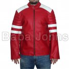 Men's Biker Fight Club HYBRID Mayhem Tyler Durden Motorcycle Leather Jackets