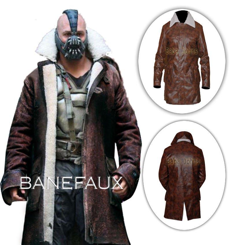 Bane Coat The Dark Knight Rises Cosplay Costume Swedish bomber Faux Leather Jacket