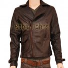 Captain America's Chris Brown Evans First Avenger Genuine Men's Leather Jacket