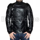 Captain America Winter Soldier Bucky Barnes Leather Vest and Jacket-2