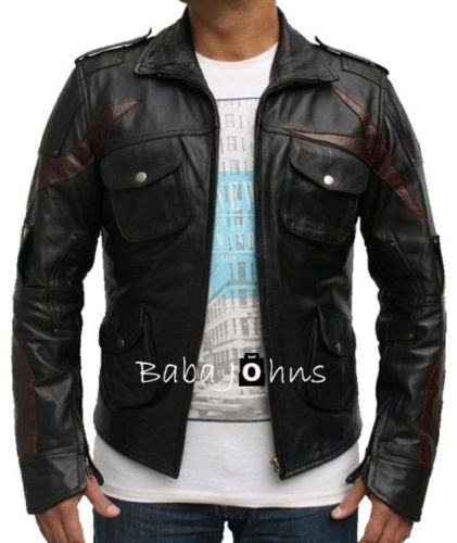 New Alex Mercer Prototype 2 PS3 4 Gaming Men's Leather Jacket With Red Cut Back
