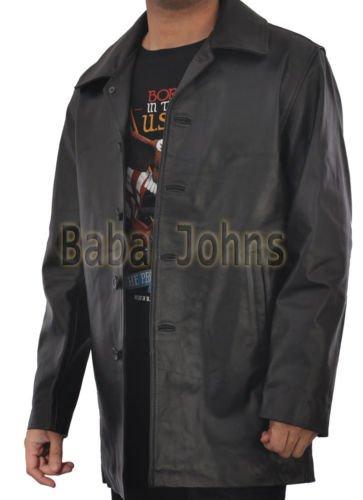 Supernatural Classic Dean Winchester Vintage Men's Leather Jacket / Long Coat