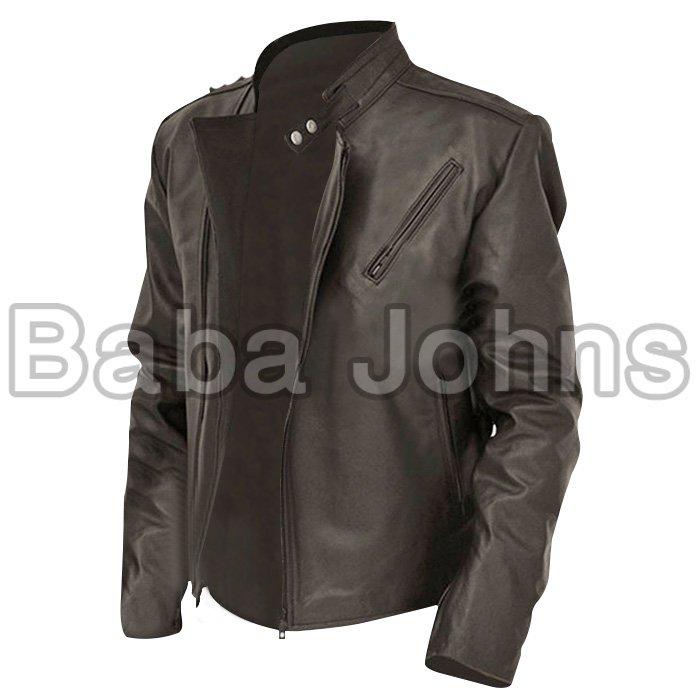 Iron man tony stark genuine leather jacket Quality Leather Jacket