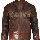 Snow lockout Guy Pearce as Marion Vintage Distressed Men's Biker Leather Jacket