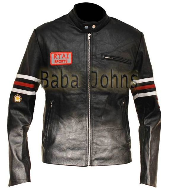 Hugh Gregory House M.D Rider Men's Biker Motorcycle Leather Jackets w/ Patches