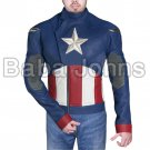NEW LEATHER JACKET CAPTAIN AMERICA CHRIS EVANS STEVE ROGERS BIKER