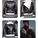 Rocky Balboa Bomber Winter Costum Replica high quality 100% Real Leather Jackets