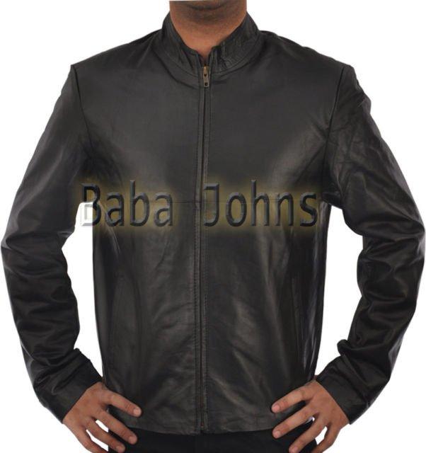 Minority Report Tom Cruise Black Men's Black Leather Jacket