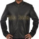 Minority Report Tom Cruise Black Men's Black Leather Jacket