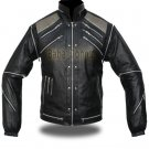 Michael Jackson Beat IT Classic Vintage Leather Jacket w/ Removable Sleeves