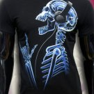 Party Sceleton rave t-shirt for rock muzic dj glows under black light