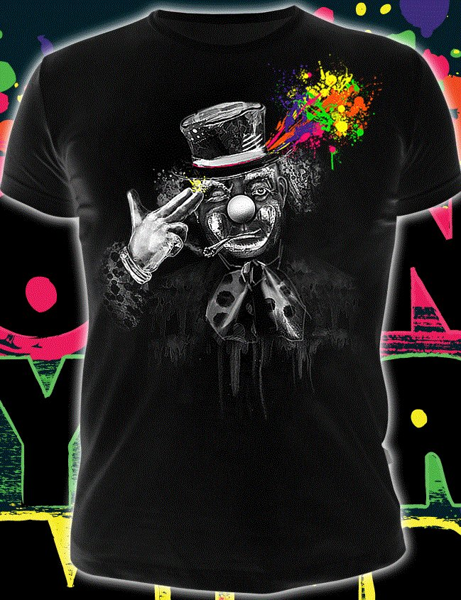 Free your mind, rave t-shirt for party glows under black light