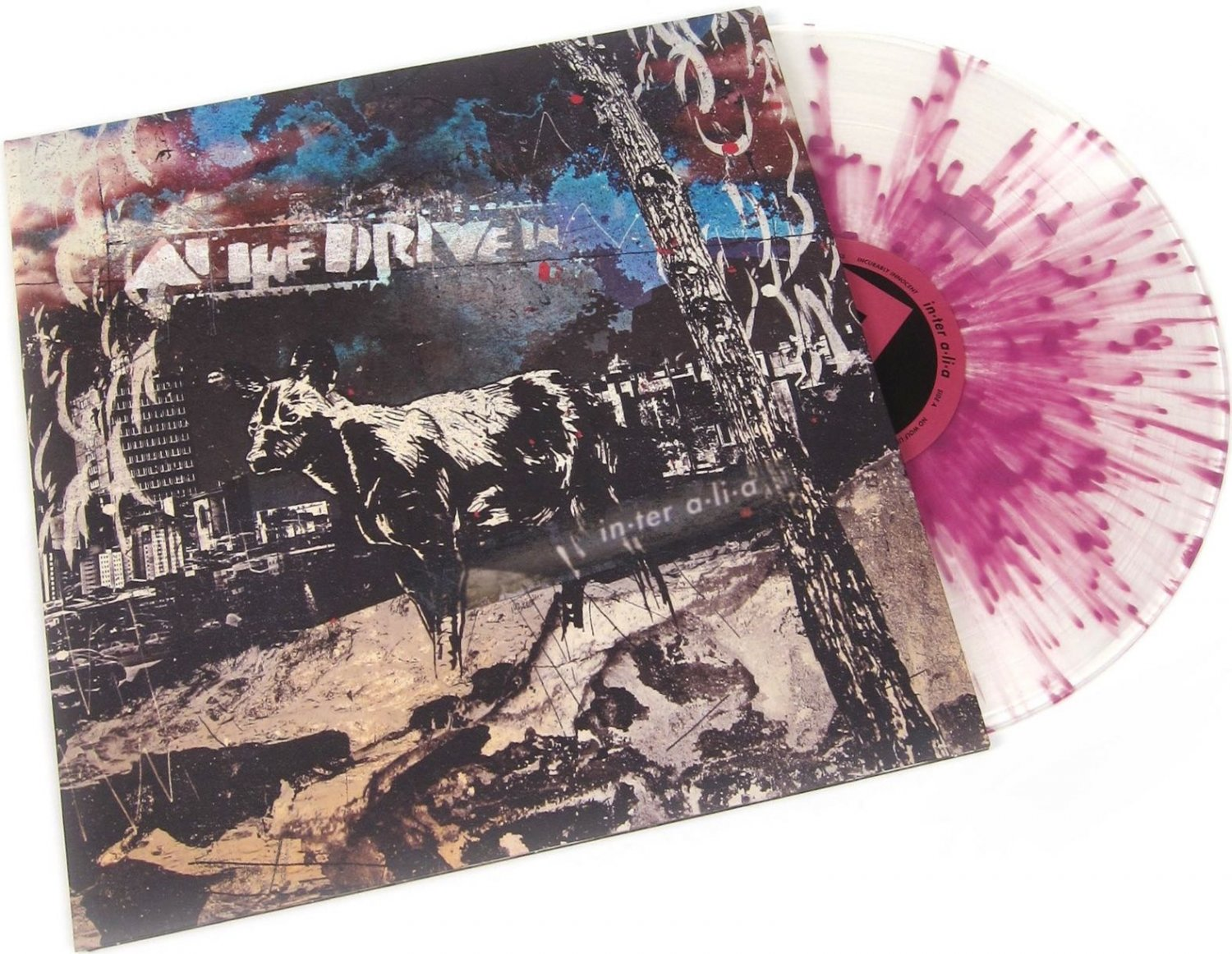 CLEAR PURPLE GRIMACE SPLATTER At The Drive In Inter Alia Vinyl LP in-ter a-li-a