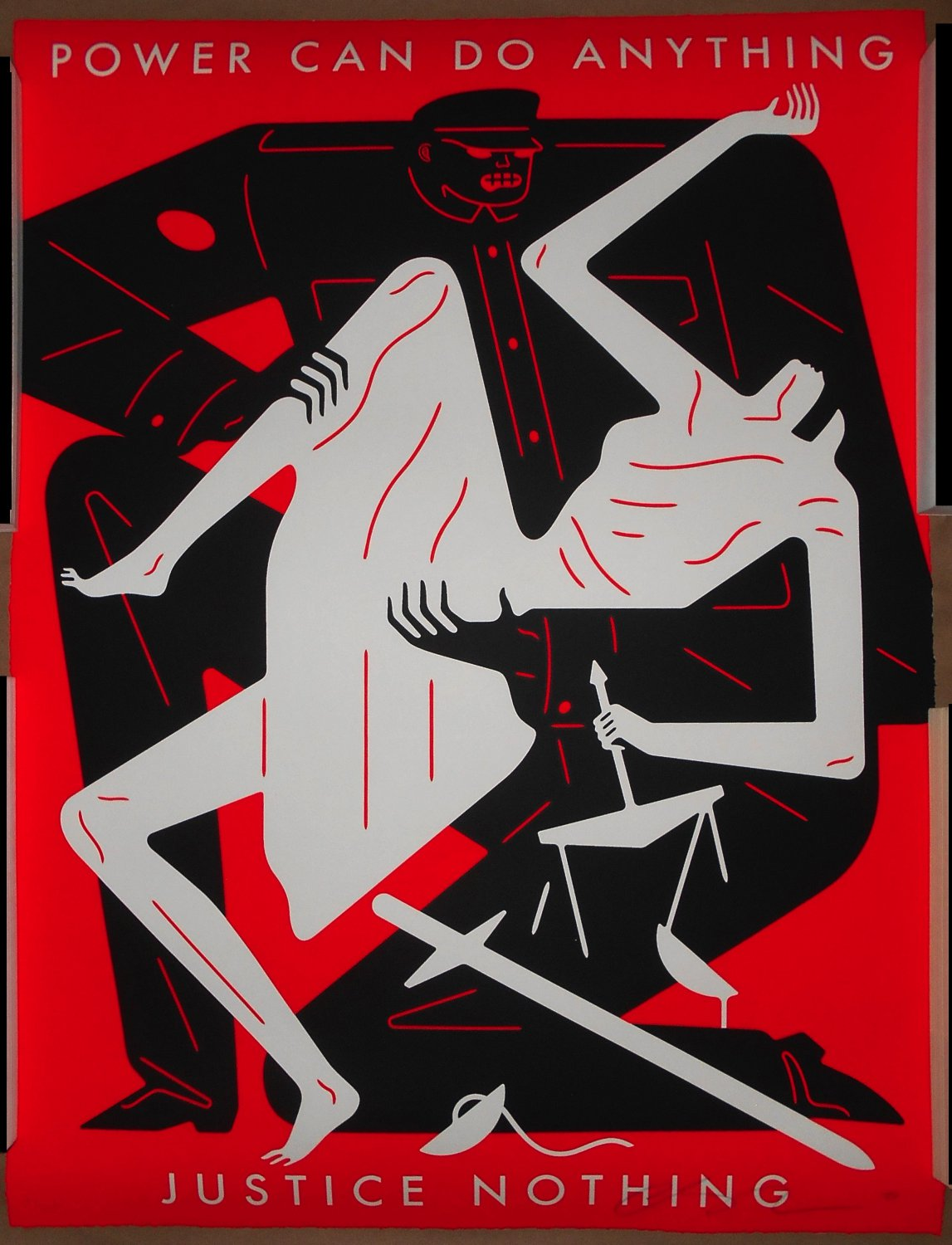 Cleon Peterson #1/125 Power Can Do Anything Justice Nothing Red Print Poster S/N