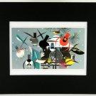 Charley Harper, Winter, Bird Feeder, Black Matted Litho Print, 21952