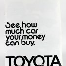 Toyota Multi Page Brochure Booklet, 1972 Land Cruiser, Pick Up, Mark II, Carina, 22324