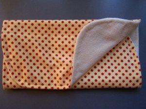 Red Spotty Burp Cloth