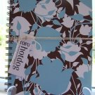 Blue and Brown Floral Notebook