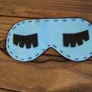 Blue Felt Sleeping Mask