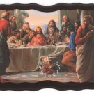 "2948800: ""The LAST SUPPER"" Wooden Wall Clock"