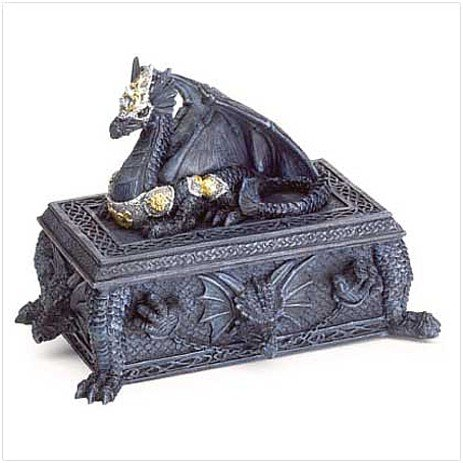 3777200: Decorative Armored Dragon Stash Box