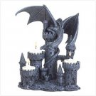 3796000: Medieval Dragon and Castle Candle Holder