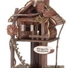 3219000: WOOD LOG CABIN TREEHOUSE FEEDER