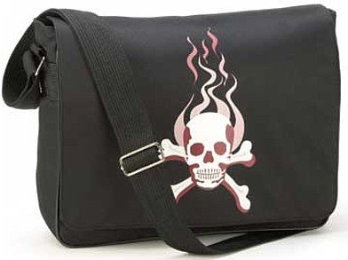 3769700: Gothic Skull Messenger Bag/Tote-Great For School/College/Travel & More