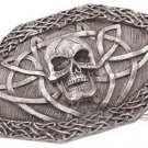 3830000: Pewter Celtic Skull Belt Buckle - Only 2 left, discontinued