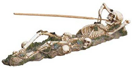 3707800: Skeleton Incense Burner Holder - Almost a Foot Long