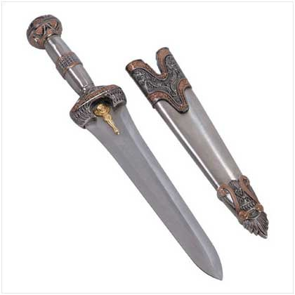 3481200: Jewel-Crested Roman Style Sword with Sheath