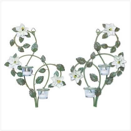 Metal Magnolia and Vine Candleholders - Pr