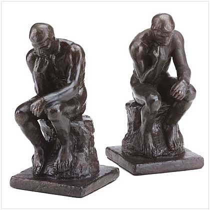 3209200: Bronze Color Alabastrite THINKERS Bookends - 2 pc. Set